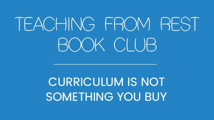 Curriculim is not soething you buy