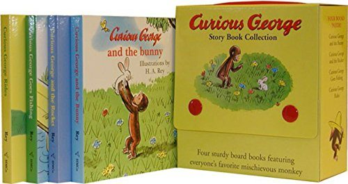 Curious George Four Board Book Set