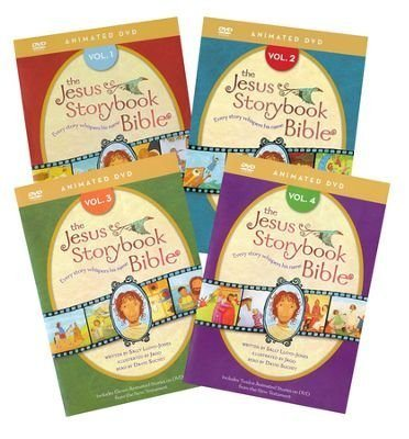 The Jesus Storybook Bible Animated DVD Complete Set Volumes 1-4 by: Sally Lloyd-Jones (Zondervan)