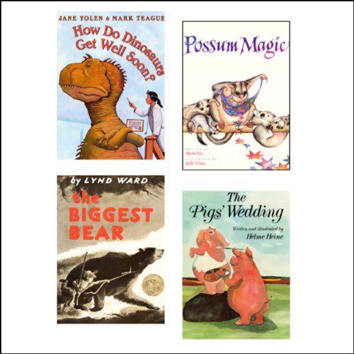 The Biggest Bear, How Do Dinosaurs Get Well Soon?, The Pig's Wedding, Possum Magic